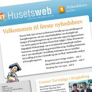 Nyhedsbrev til Husetsweb - udarbejdet af Courage Design