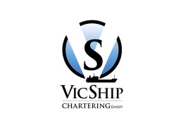 Logodesign til speditørvirksomhed Vicship ved Courage Design