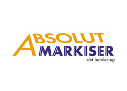 Logodesign til Absolute Markiser ved Courage Design