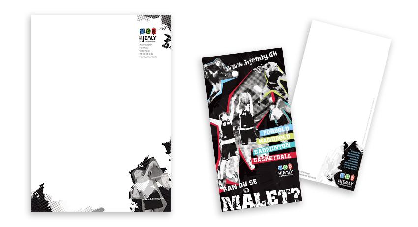 Hjemly - brevpapir og postkort - udarbejdet af Courage Design