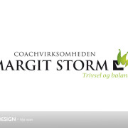 Redesign af Margit og Storm logo ved Courage Design