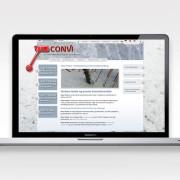 Hjemmesidetekst til fremstillingsvirksomheden Convi - skrevet af Courage Design