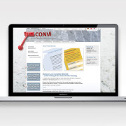 Hjemmesidetekst til Convi skrevet af Courage Design
