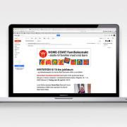 Homestarts online nyhedsbrev udarbejdet af Courage Design
